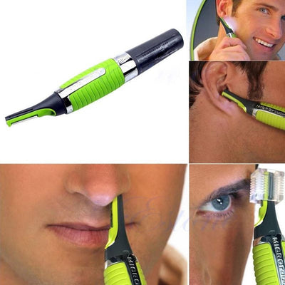 Online discount shop Australia - Ear Eyebrow Nose Hair Sideburns Trimmer Electric Shaver Removal Clipper Safety Personal Face Care with LED Light AY036-SZ+