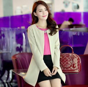 Women's Basic Jackets Women Long Jacket Solid Casual long sleeve outwear High Slim coats for women 4 colors