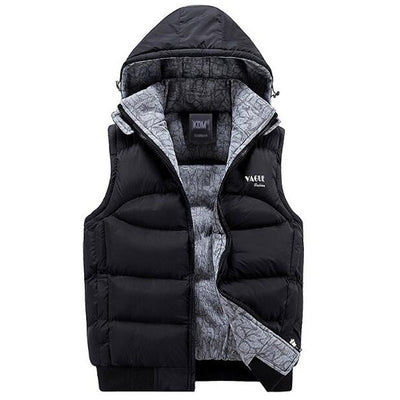 Online discount shop Australia - Jacket Men Sleeveless Veste homme Mens Fashion Casual Coats Male Hooded Cotton-Padded Men's Vest Thickening Waistcoat