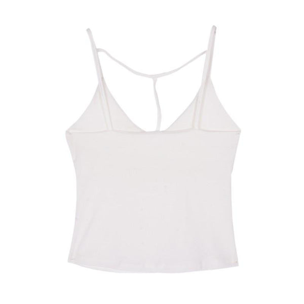 Women Clothes Tops Bandage Cami Tops Tight-fitting V-neck Sleeveless Tanks Crop Top Arrival