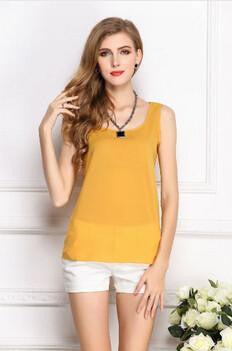 Online discount shop Australia - Fashion  Style Women Clothes Fitness Tank Top Cropped Chiffon Sleeveless Causal T Shirt Women Vest Crop Tops 16 color