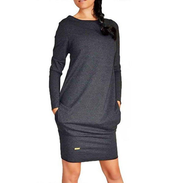 Sexy Women Long Sleeve Warm Autumn Dress Sweatshirt Party Short Mini Jumper Dresses