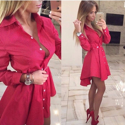 687045c8b9fc7 Women Fall Dresses New Ukraine Women Autumn Winter Long Sleeve Casual Shirt  Dress Mini Vintage Party