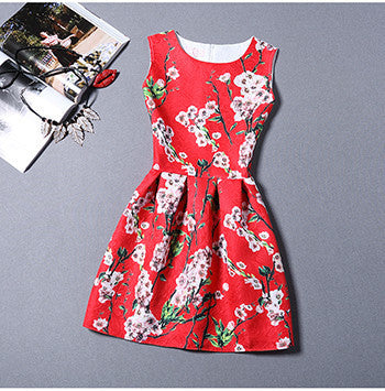 Online discount shop Australia - Fashion Bottoming Dress Summer Style Women Dress Vintage Printing Sexy Party Dresses vestidos Leisure Plus Size Summer Dress
