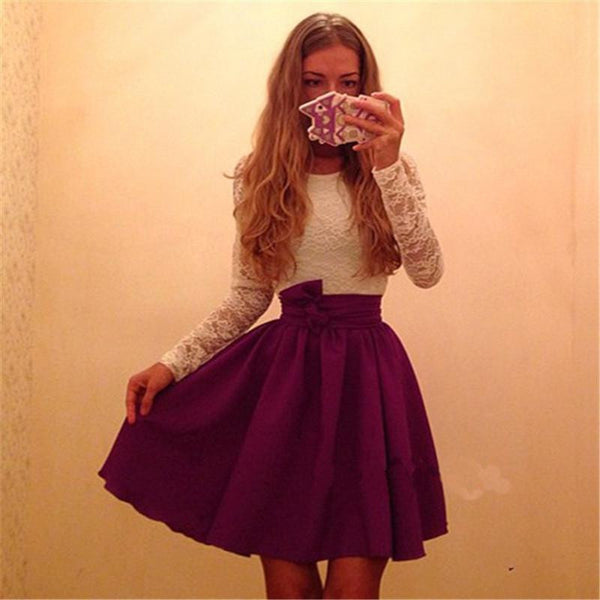 Ukraine Style Womens Autumn Winter Lace Party Dresses Fall Purple&skyblue Sexy Vintage Long Sleeve Casual Dress Plus Size