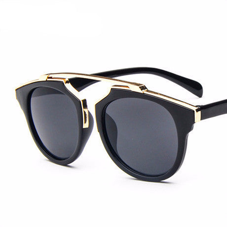 Oculos De Sol feminino The New Sunglasses Women Retro Reflective Sunglasses Color Filma