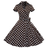 Online discount shop Australia - 1950s Retro Audrey Hepburn Style V-Neck Swing Lapel Shirt Rockabilly Pinup Summer Dress