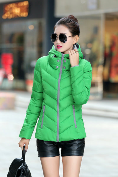 Plus M-4XL Women's Coat Jacket Female Slim Short Cotton Padded Down Coat