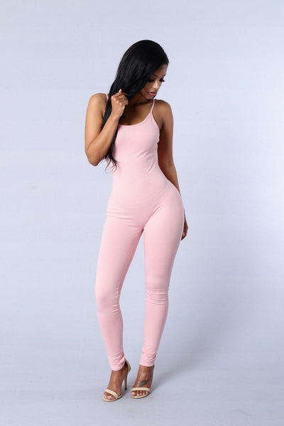 Solid Sexy Strap Backless Bodycon Bandage Long Pants Basic Jumpsuit Women Sexy Rompers One Piece Bodysuits For Women