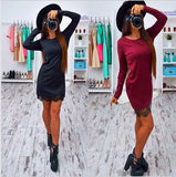 Online discount shop Australia - Autumn Lace Patchwork Women Dress Fashion O-neck Long Sleeve Black Red Elegant Dresses Casual Bodycon vestidos Plus size