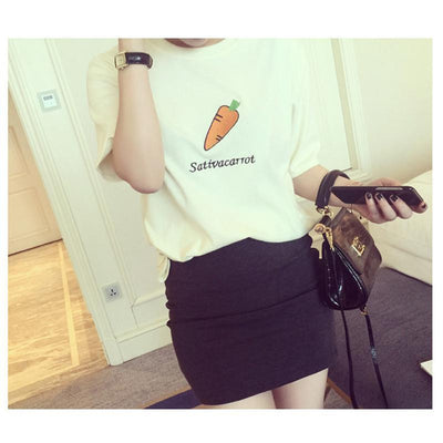 women t shirt t-shirt women's tee tops female sweet fruit print soft cotton t shirts with prints