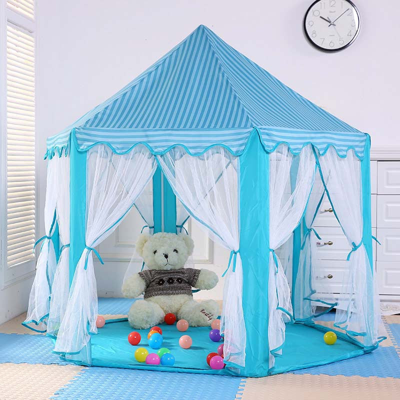 huge discount 74a26 bfb27 Children's Play Tent Gift Princess Castle Toy Tents Kids Inflatable Play  House Lodge Ball Pool Best Gift