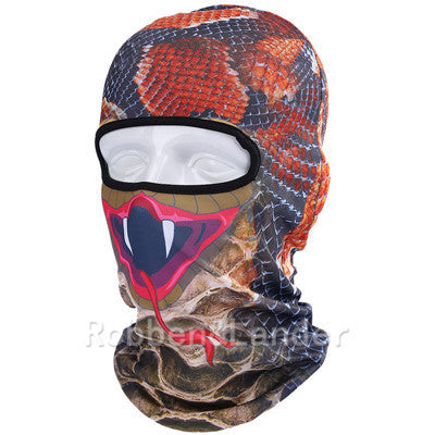 1 Pcs Thin 3d Animal Outdoor Cycling Ski Face Mask Neck Hood Full Face Mask Hat H9 Apparel Accessories Men's Accessories