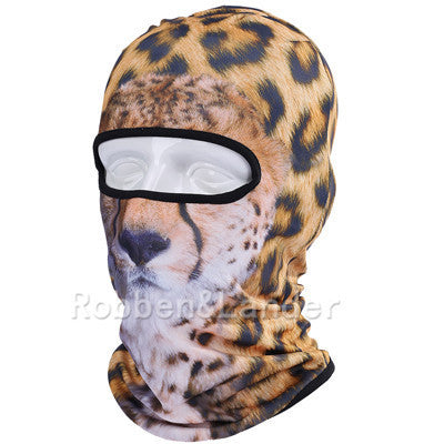 3D Cat Dog Animal Outdoor Bicycle Cycling Motorcycle Skis Hats Balaclava Sports Cat Dog Tiger Party Halloween Pet Full Face MaskBNB02a