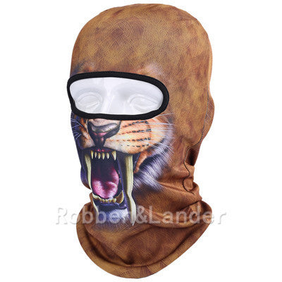 3D Cat Dog Animal Outdoor Bicycle Cycling Motorcycle Skis Hats Balaclava Sports Cat Dog Tiger Party Halloween Pet Full Face MaskBNB03a