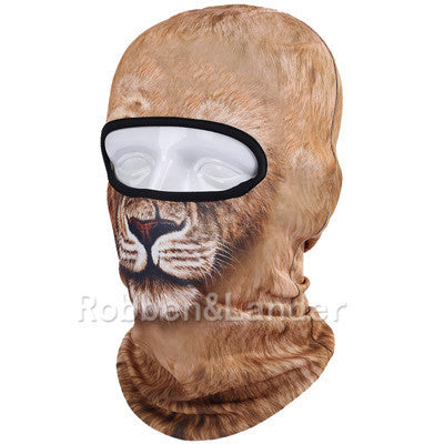 3D Cat Dog Animal Outdoor Bicycle Cycling Motorcycle Skis Hats Balaclava Sports Cat Dog Tiger Party Halloween Pet Full Face MaskBNB04a