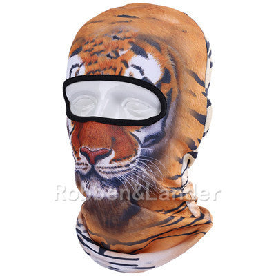 3D Cat Dog Animal Outdoor Bicycle Cycling Motorcycle Skis Hats Balaclava Sports Cat Dog Tiger Party Halloween Pet Full Face MaskBNB05a