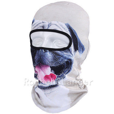 3D Cat Dog Animal Outdoor Bicycle Cycling Motorcycle Skis Hats Balaclava Sports Cat Dog Tiger Party Halloween Pet Full Face MaskBNB07a