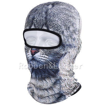 3D Cat Dog Animal Outdoor Bicycle Cycling Motorcycle Skis Hats Balaclava Sports Cat Dog Tiger Party Halloween Pet Full Face MaskBNB09a