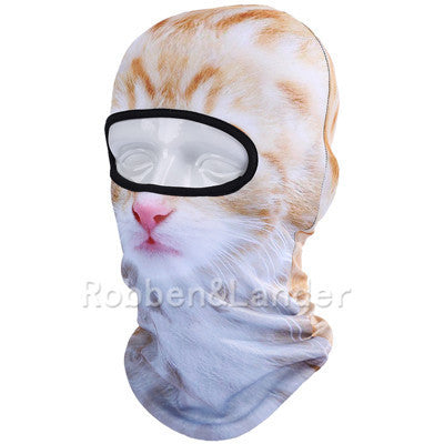 3D Cat Dog Animal Outdoor Bicycle Cycling Motorcycle Skis Hats Balaclava Sports Cat Dog Tiger Party Halloween Pet Full Face MaskBNB10a