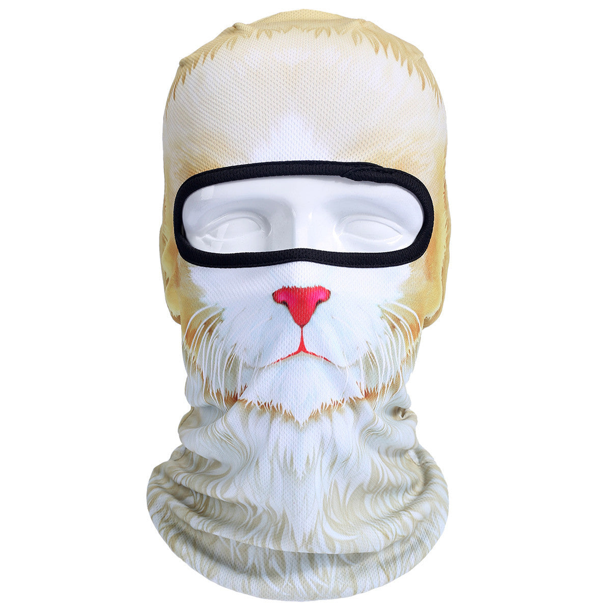 3D Cat Dog Animal Outdoor Bicycle Cycling Motorcycle Skis Hats Balaclava Sports Cat Dog Tiger Party Halloween Pet Full Face MaskBNB52a