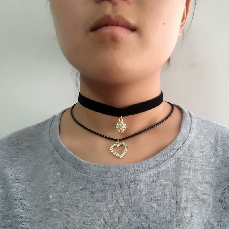3 Style Trendy Black Lace Choker Collier Ethnique Women Accessories Gothic Net Crystal Crown Choker Necklace Collar Jewelrya