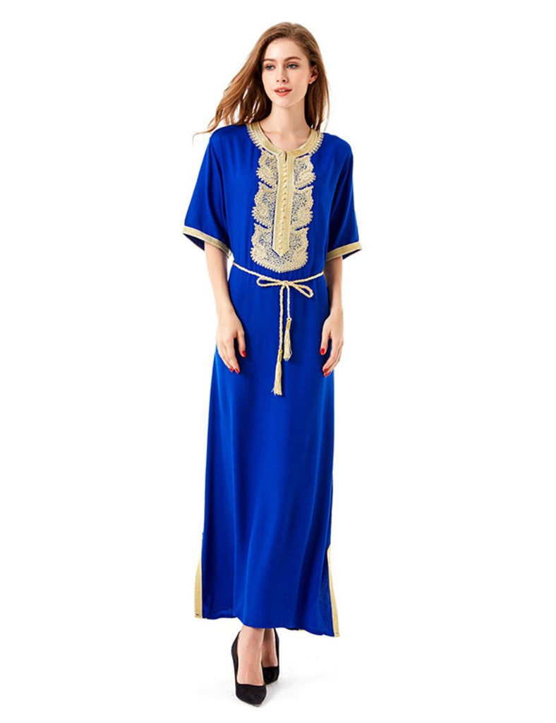 f5a5f595c17 Women's Maxi Muslim Long Dubai Dress moroccan Kaftan Caftan Jilbab Islamic  Abaya Muslim abaya Turkish arabic