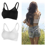 Online discount shop Australia - 1PC Sexy Backless Hollow Out Base Vest Cotton Spandex Women's Bustier Bra Crop Top Tank Beach Newest