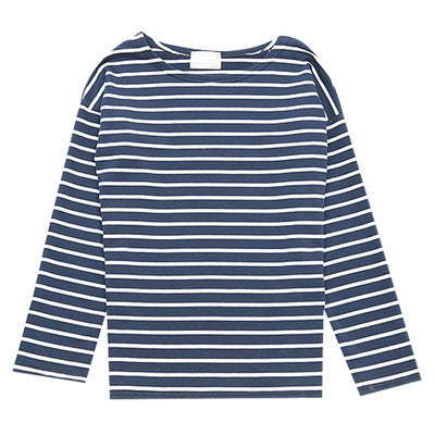 Online discount shop Australia - Ladies Casual Shirt Women's Red White Striped 3/4 sleeve  Tops For Woman Crew Neck Bottoming Tee Shirt 11 Colors