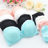 Online discount shop Australia - High quality women push up bra sets sexy lace Jacquard mesh girl bra set underwear lingerie sets bra + panties