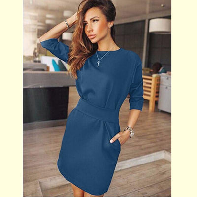 Women's Casual Half Sleeve Autumn Dress Bodycon Dress Ukraine Plus Size Clothes Evening Party Mini Dresses