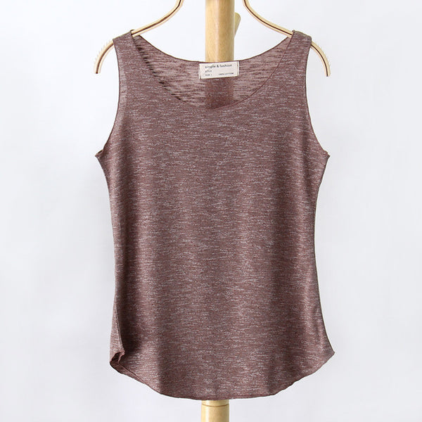Online discount shop Australia - Fashion Women New Sleeveless Shirt Ladies Singlets Bamboo Cotton Casual Tops Vest 10 Colors