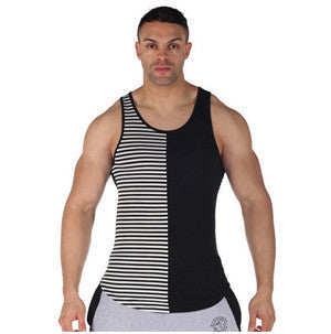 Online discount shop Australia - Mens Singlets Stripe Fitness Singlets Muscle Stringer Mens Stringer Tank Tops Stringer Vest Tank Top Men