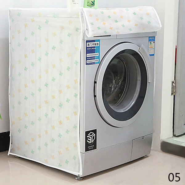 PEVA Waterproof Sunscreen Washing Machine Cover Waterproof Case Washing Machine Protective Dust Jacket Front Open #91811