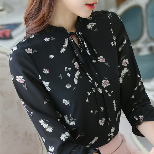 Slim Formal Commuter Solid Color Long-sleeved Shirt blouses Career Women Strand Collar Tops 288J
