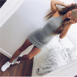 Women Dress Bandage Bodycon Sleeveless Dress Evening Sexy Party Mini Short Dress
