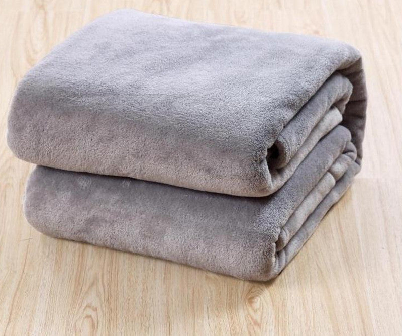 Beddom Blanket For Size 200*230cm 3 Different Colors Sofa Air Bedding Throw Solid Color And Double Faced Travel Flannel BlanketsDark Gray200x230cma