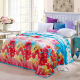 Online discount shop Australia - Coral Fleece blanket on the bed home adult Plaid Flower beautiful blanket sofa travel blanket purple portable #2