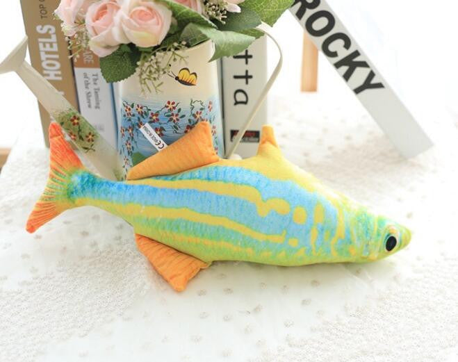Creative Small Fish Shape Decorative Cushion Throw Pillow With Inner Home Decor Sofa Emulational Toys No ZipperReda