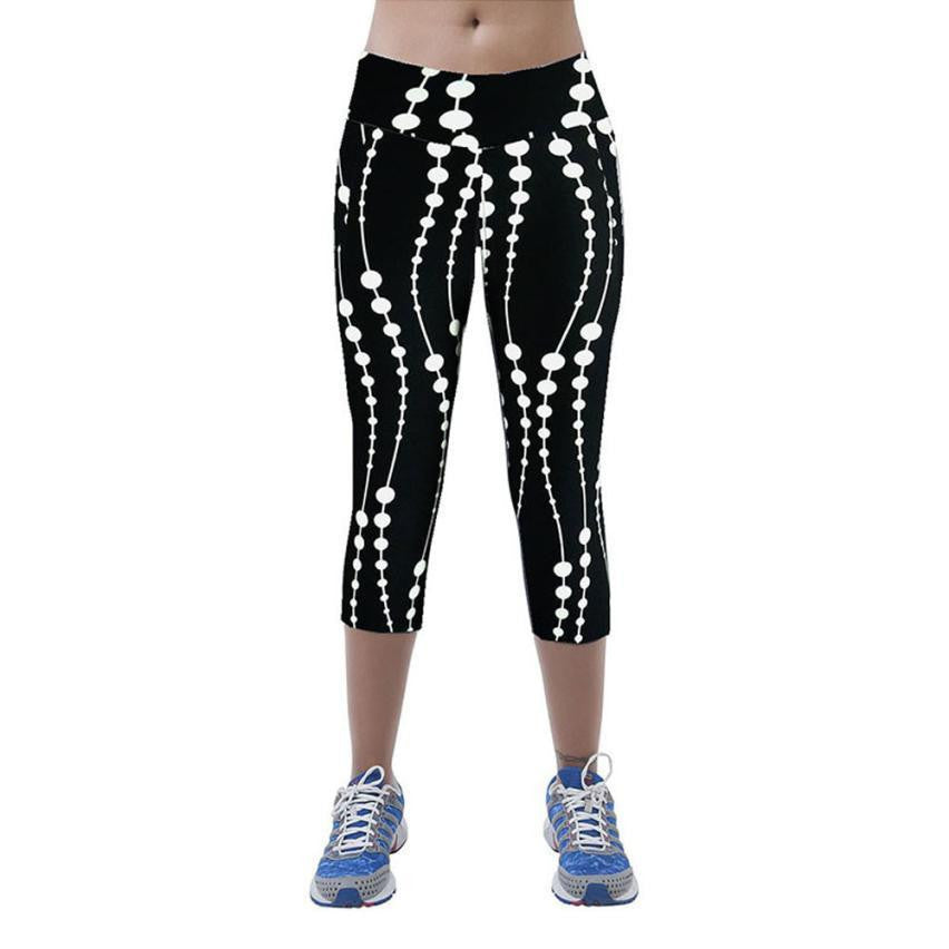 Women Pants Elastic Female Elastic Fitness Trousers Slim LeggingsBlackLa