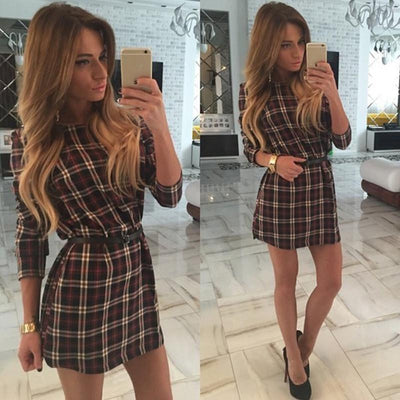 Women's dresses Autumn Women Casual Lattice Long Sleeve red Dress Sexy Women Dresses Vintage Office Dresses Clothes for Women