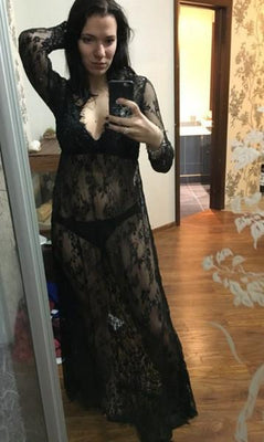 Women Long Lace Dress Plus Size Sexy V Summer Beach Dress Embroidery Floral Boho Floor Length Black White Maxi Dresses