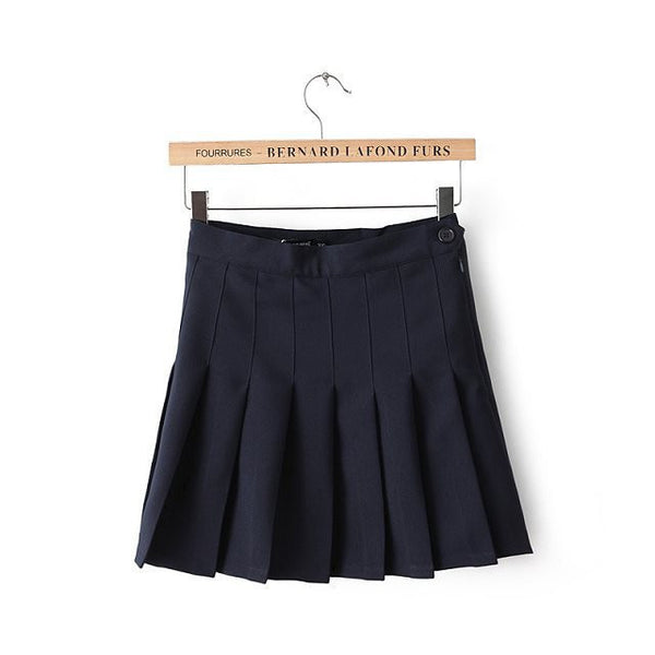 Pleated Skirt High Waist Ball Mini Skirt sexy plus size Skirts