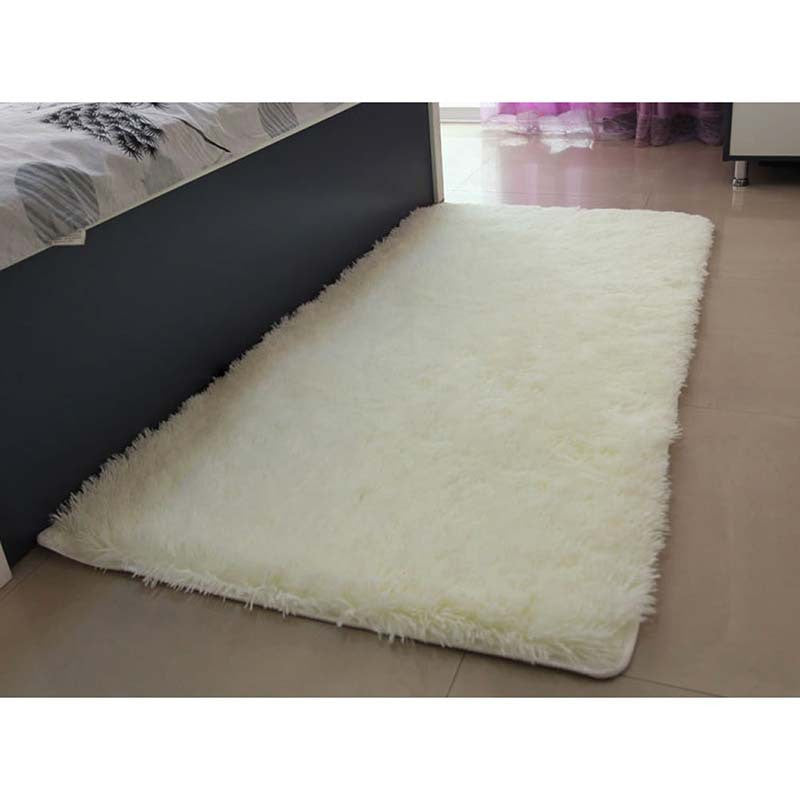 Carpets For Living Room Ivory Wool Rug Anti-skid Carpet Floor Bedroom Soft Mat Carpets Kids Room Home#ZH183creamy white800MMX1200MMa