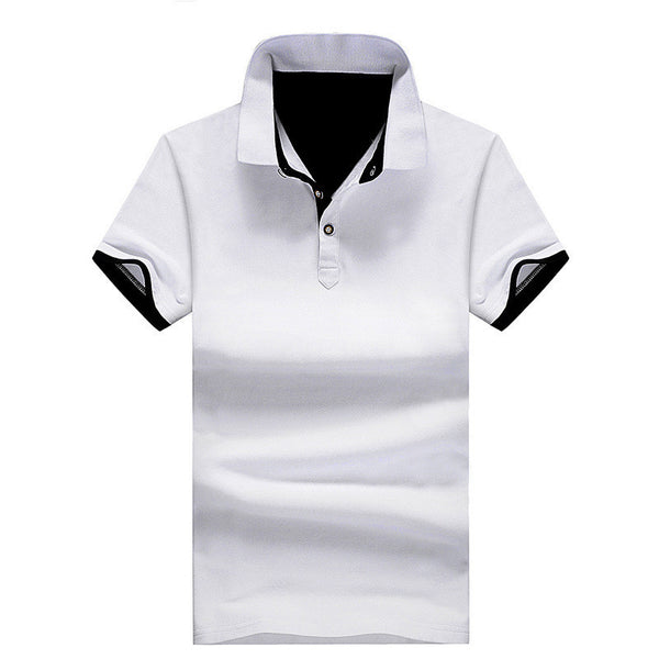 Online discount shop Australia - Mens Polo Shirts solid male breathable shirts 95%cotton slim Short Sleeve polos camisa polo homme plus size 3XL 4XL