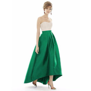 Online discount shop Australia - Black Solid Pleated Asymmetrical Long Skirts Womens Plus Size Vintage High Waist Ball Gown Mermaid Party Maxi Skirt