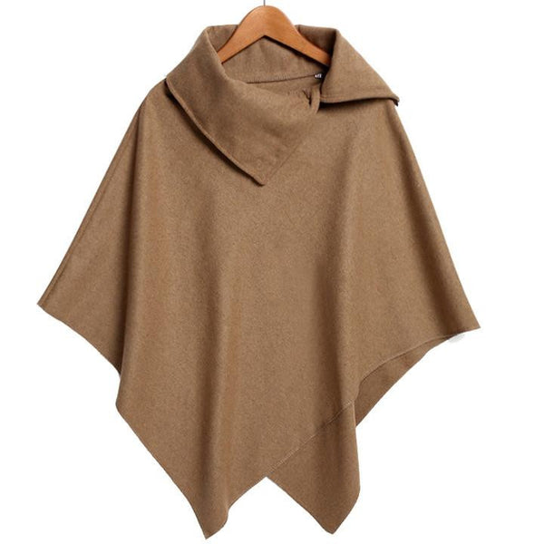Women Basic Coats Poncho Ladies Batwing Wool Oversized Coat Casual Coat Jacket Loose Cloak Cape Outwear