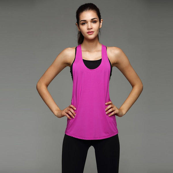 Women Tank Tops Quick Dry Loose Fitness Sleeveless Vest Singlet for T-shirt Runing