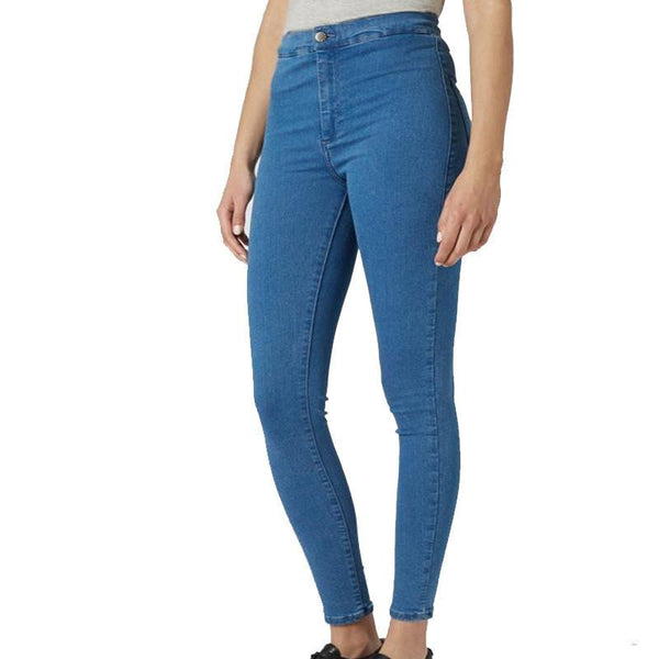 Woman Washed Vintage Thin Black Slim Pencil Pants Blue Leggings Denim Skinny Pants High Waist Jeans Female Trousers