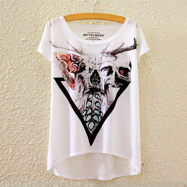 Online discount shop Australia - Cotton t Shirt Women Short Sleeve kawaii tshirt o-neck harajuku loose Magic llicorne Unicorn